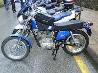 foto de Ducati Road 350, eran de color azul