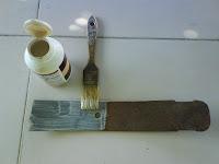aplicamos una capa de producto elimina óxido