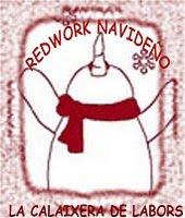 Sal redwork navideño