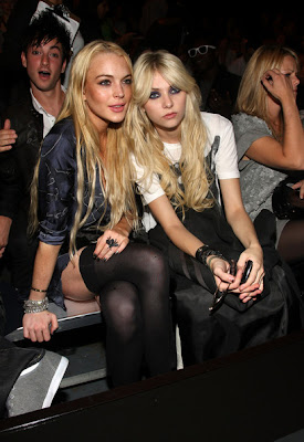 Lindsay Lohan and Taylor Momsen Get Up photo