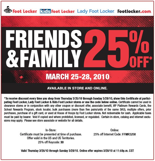 foot locker coupons alohaaloha friends and family coupons