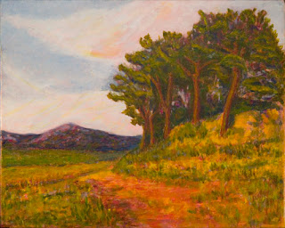Provence copse - acrylic painting on canvas