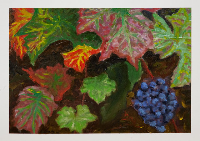 On The Vine - Oil painting on watercolor paper
