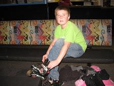 Kaleb Equips with Inline Skates