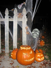 Carved Pumpkins at Entrance