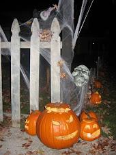 Carved Pumpkins at Entrance