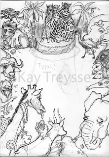 Kay Treysse Skizze für Luisa Natiwi