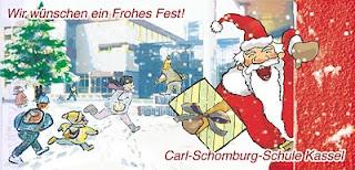 Weihnachtskarte der Carl Schomburg Schule Kassel