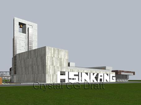 藝術高中建築外觀得標後第三次全面修改定形之立體圖2~