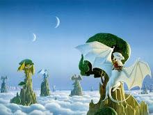 Dragón Blanco entre las Nubes