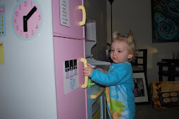 Alivia with her new Kitchen