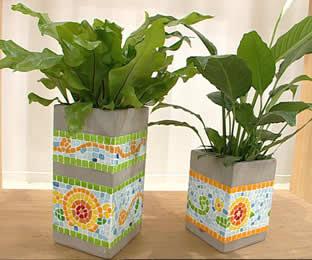 Revista comunion hazlo tu mismo macetas decoradas for Bloques cemento para jardin