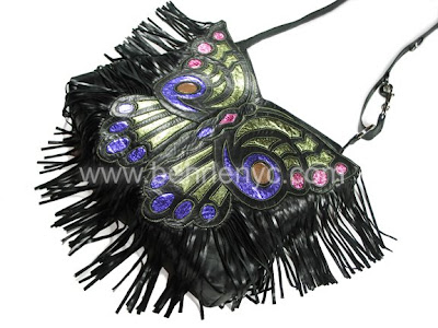 Leather Butterfly Satchel