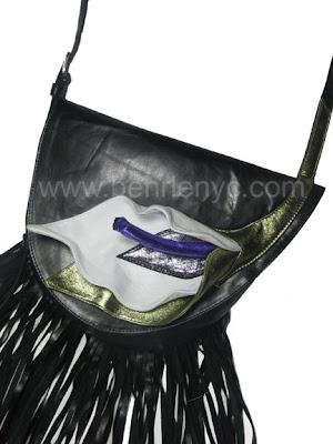 leather calla-lily bag