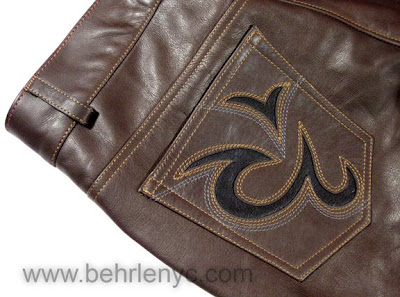 custom men's leather pants