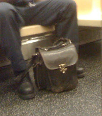 conductor's leather bag