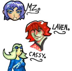 Gunken Characters.