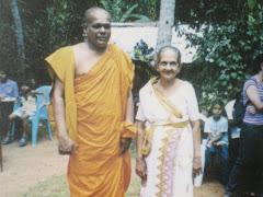 Ven. Ratanasiri Nayake Thero with his Mother