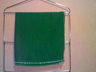 kerudung paris hijau batu kristal swarovski 1 baris