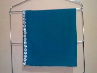 jilbab muslimah biru tosca kerudung paris payet biru