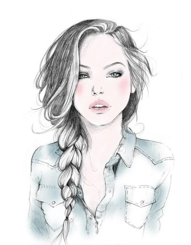 девушки, рисованные девушки.