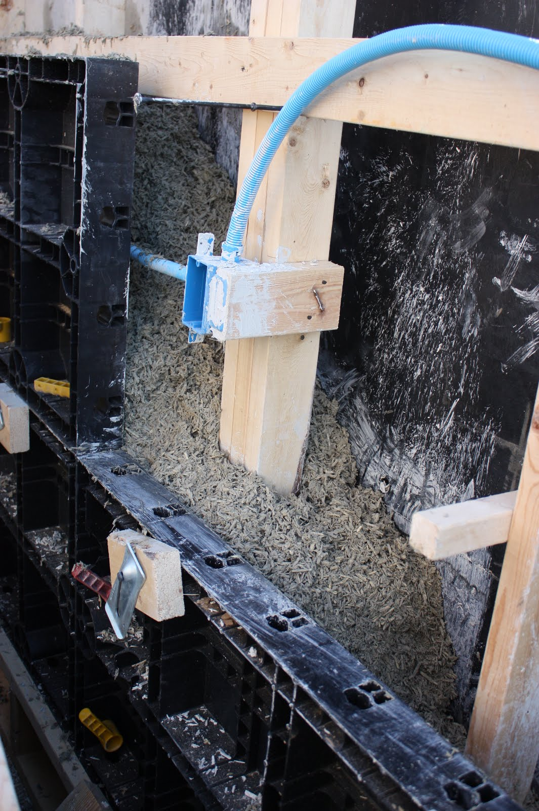 The Push House: Example of electrical rough in