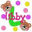 Dot Teddy Bear with name