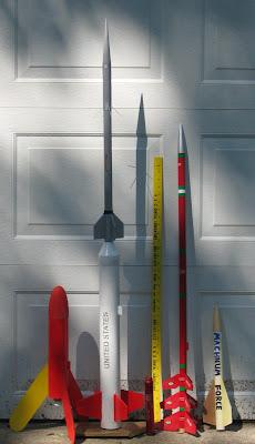 L→R: Mozzie, Nike-Apache, 29/180 case, yardstick, Comanche-3, Machnum Force