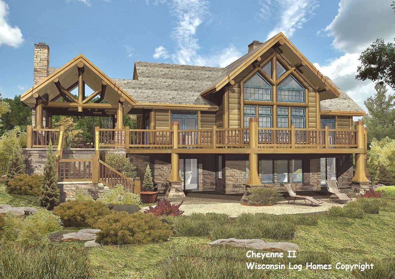 Log home floor plans by wisconsin log homes inc for Log home blueprints