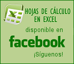 Hojas de clculo en Excel en facebook