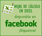 Hojas de cálculo en Excel en facebook