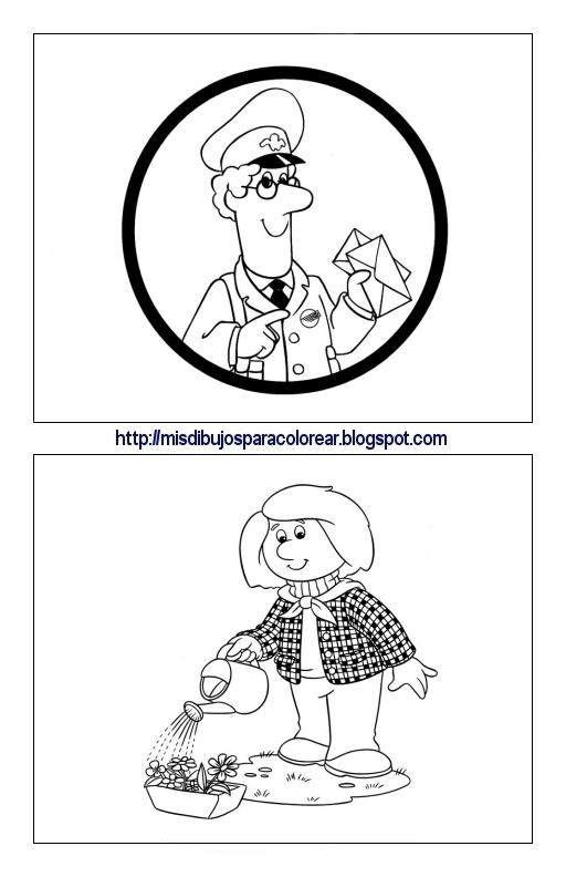 Dibujos de Pat el cartero (8ª parte) : Mis dibujos para colorear