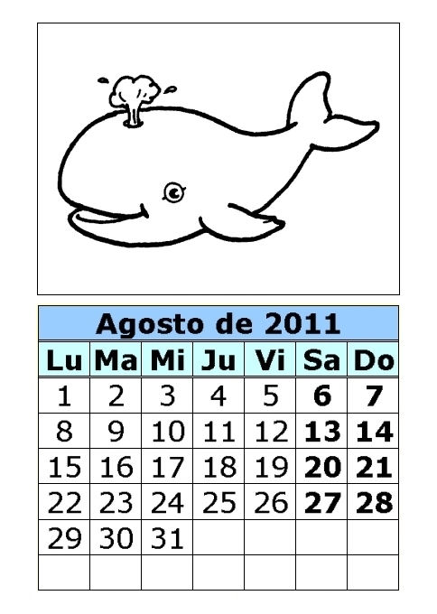 Calendario de animales para colorear de 2011 (3ª parte ...