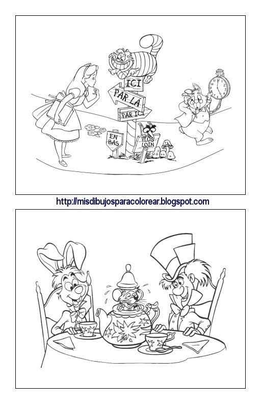 Dibujos para colorear de Alicia en el país de las maravillas (4ª ...