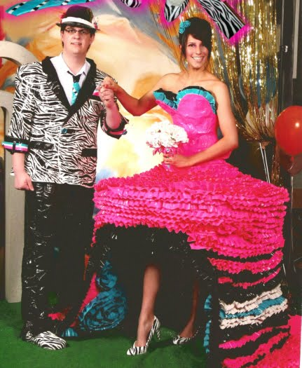 Fashion Style: Duct Tape Prom Dress