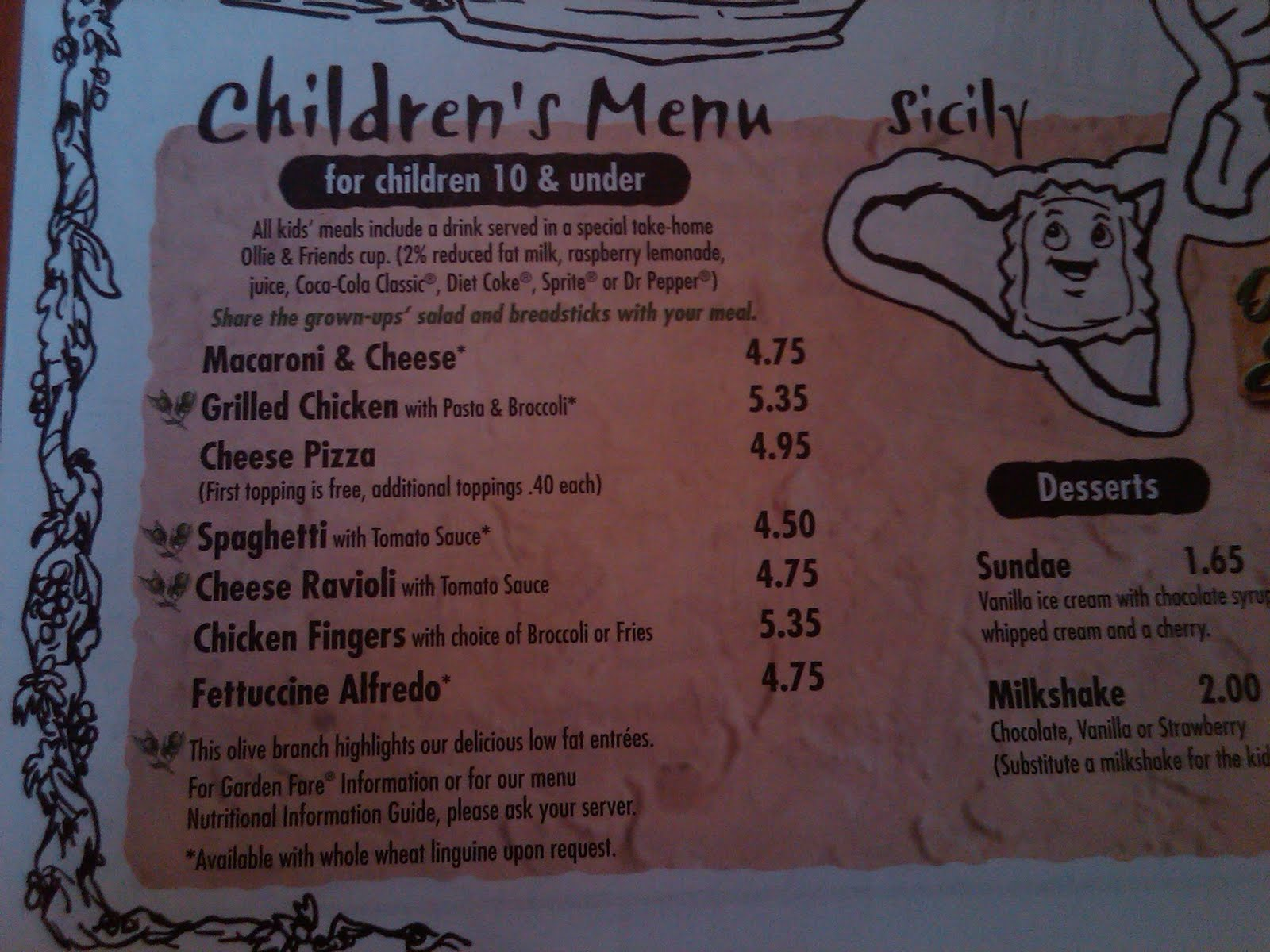 Allergen Free Please Olive Garden