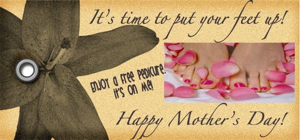 Last minute mother 39 s day idea oopsey daisy for Free pedicure gift certificate template