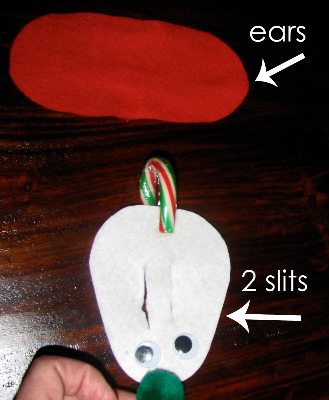Candy Cane Mice Template we Made Candy Cane Mice