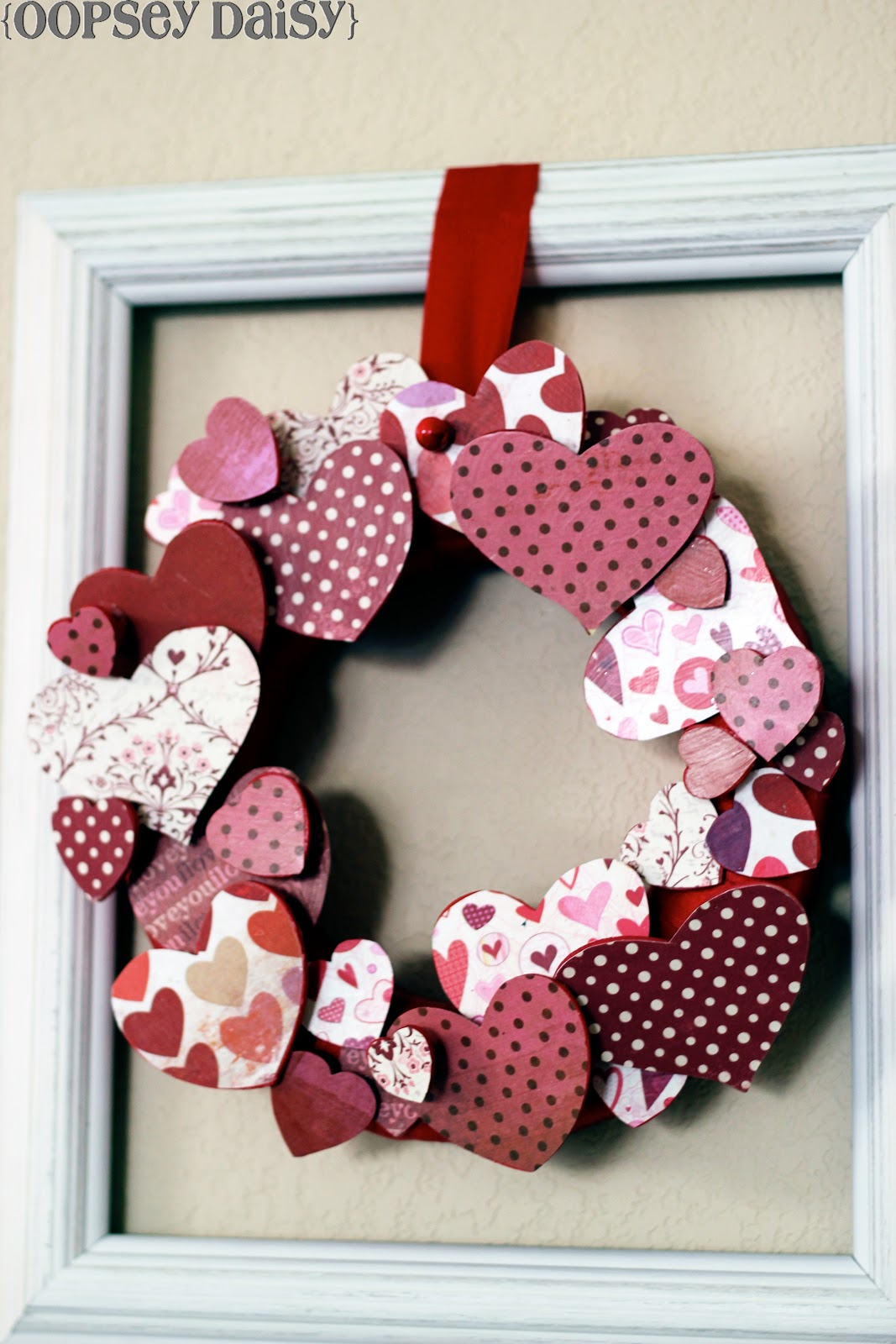 3D valentines wreath