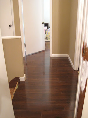 Flooring Progress: Upstairs Hallway