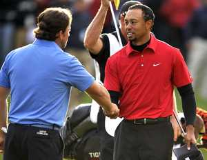 Tiger Woods Graeme McDowell