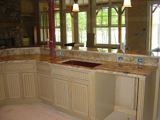 When Using Granite On Countertops And Top Bar Areas, Finish The Look Off  With A Granite Riser Instead Of The Ceramic Tile.