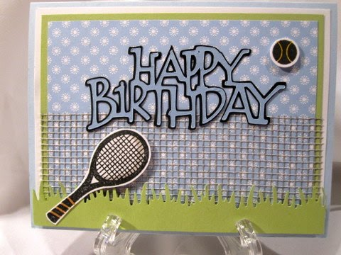 Creations by patti tennis bday card m4hsunfo