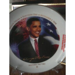 President Obama plate