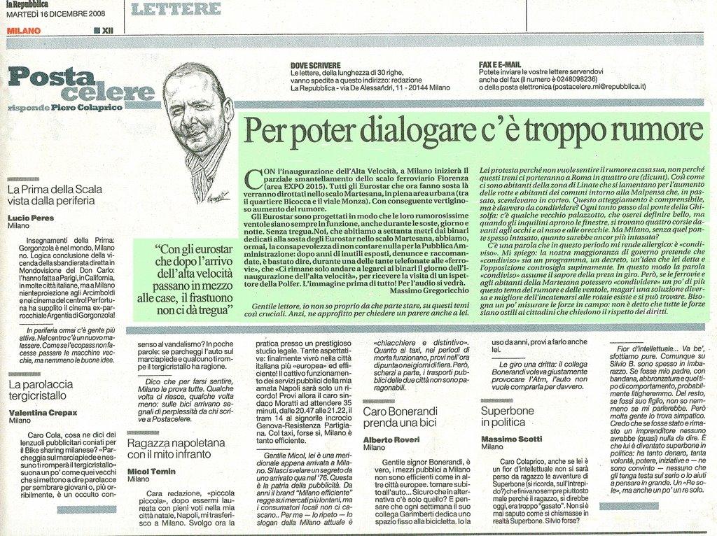 """lettera a """"la repubblica"""" (16/12/08)"""