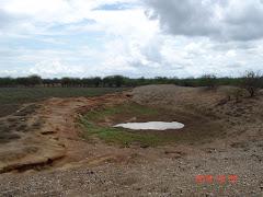 As primeiras águas no barreiro em 2010