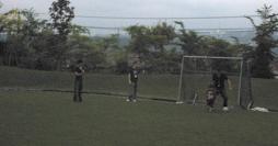 BBQ soccer field