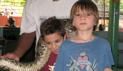 Boys and their snake...