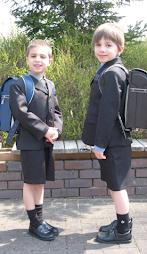 Schoolboys in Japan