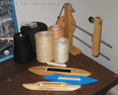 A variety of 8-2 mercerized cotton & rayon yarns